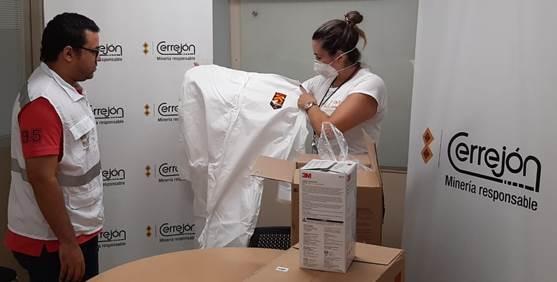 Cerrejón entregó tres mil mascarillas y 350 trajes antifluidos a La Guajira