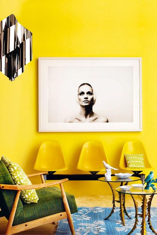 6 fotos de salas amarillas para inspirarte