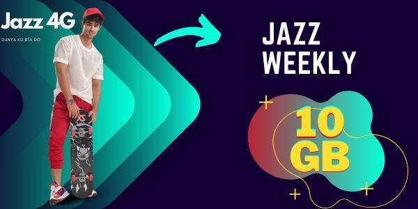 jazz weekly 10GB internet package
