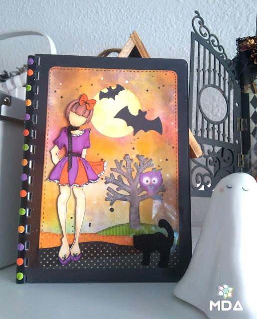 Libreta con doll Halloween
