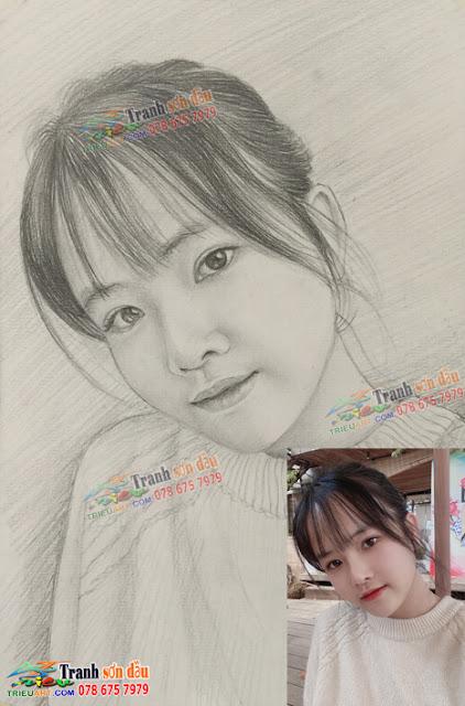 vẽ chân dung tặng bạn gái