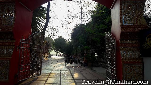 Entrance of the Wat Phuket in Pua, Nan - Thailand  (2018)