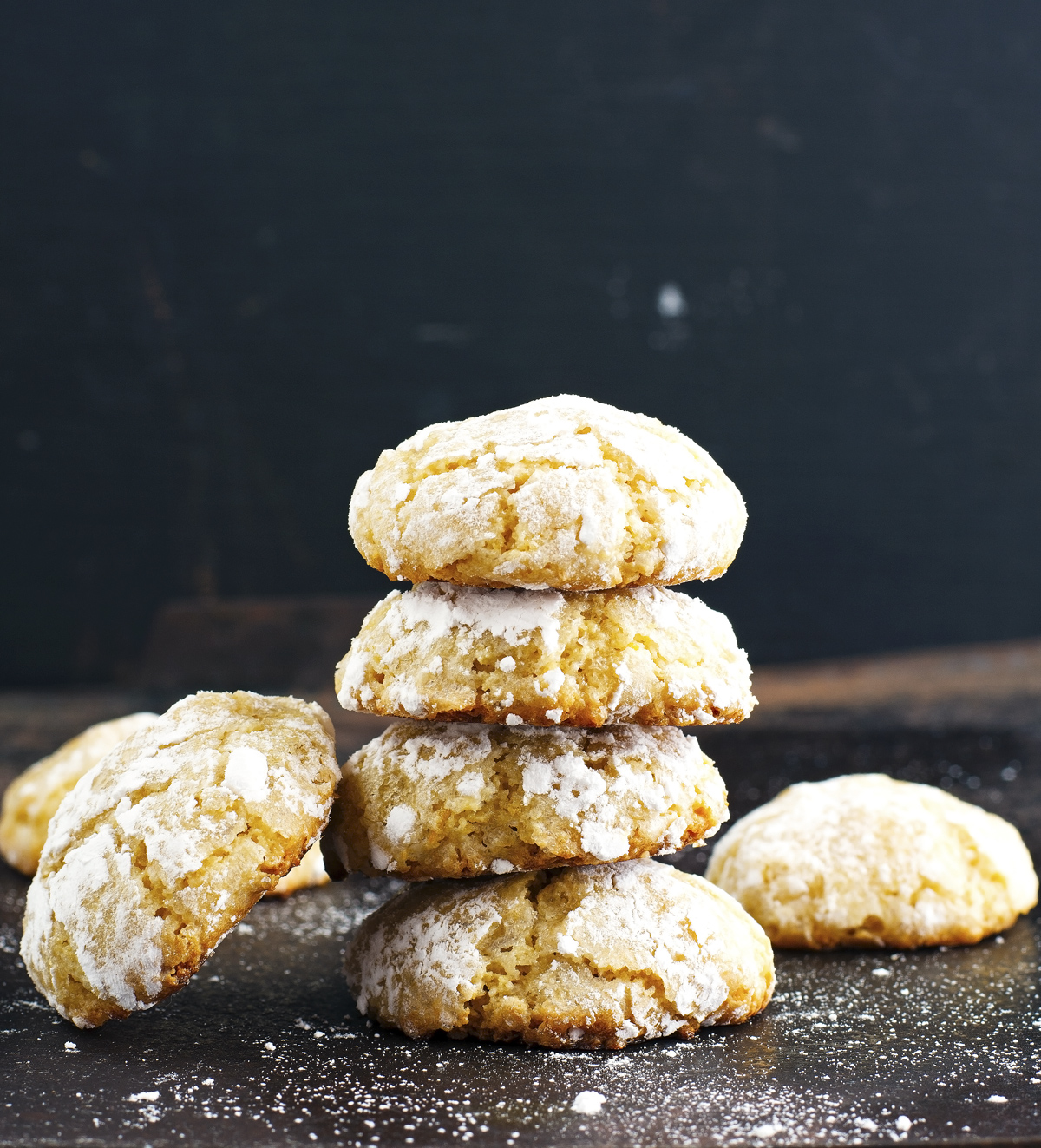 Lemon Almond Crinkle Cookies