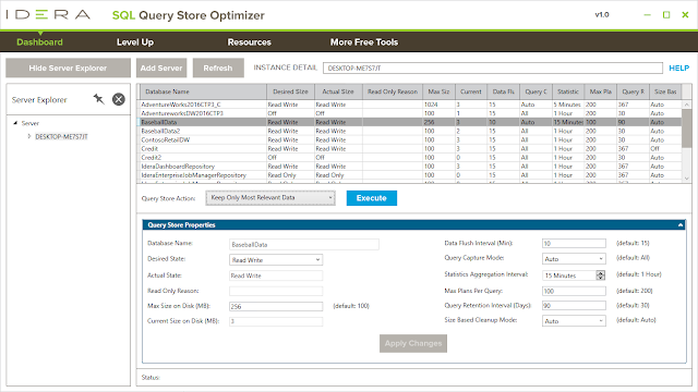 Optimize SQL Server Query Store Performance - SQL Query Store Optimizer - Free Tool