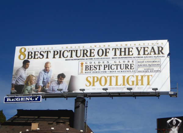 Spotlight Best picture of the year billboard