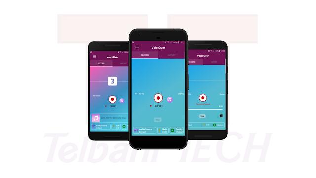 تطبيق voice over تسجيل الصوت و يدعم التسجيل من مايك خارجي