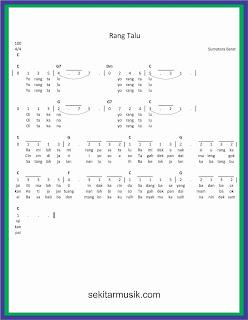 not angka rang talu lagu daerah sumatera barat