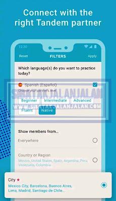 apliaksi belajar bahasa asing tandem