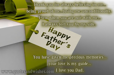 father's day from daughter:think you for always believe in me.