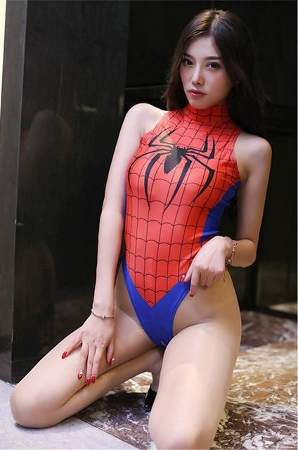 Sexy Spiderman Bikini Cosplay