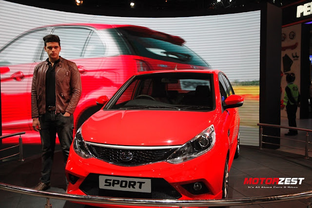 Tata Motors sporty hatchback Bolt at Delhi Auto Expo 2016