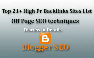 Top 21+ High Pr Backlinks Sites List Off Page SEO techniques