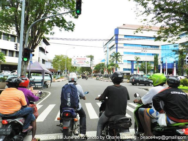 Lalu lintas di Ambon