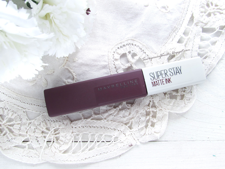 Матовая помада Super Stay Matte Ink Liquid Lipstick от Maybelline в оттенке 95 Visionary / блог A Piece of Beauty