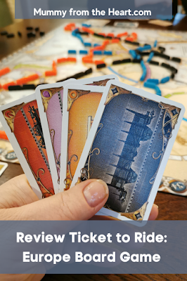 Review of Ticket to Ride:Europe board game. Great fun for all the family and especially good for getting your teenagers involved.