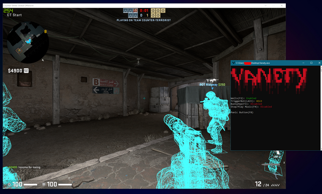 CSGO Free Hack - Vanety, external legit hack, triggerbot, wallhacks [Trusted Mode]