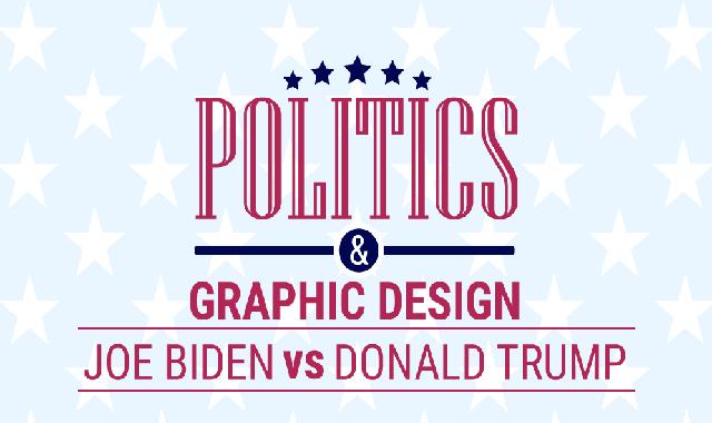 Graphic Designs in Politics: Biden vs. Trump Campaigns #infographic