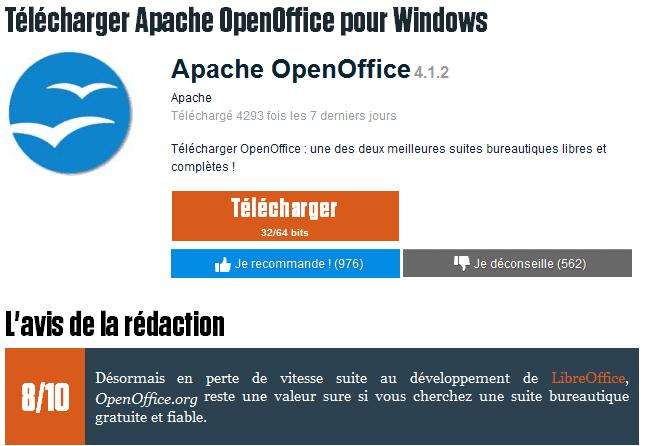 Logiciel de bureautique Open Office