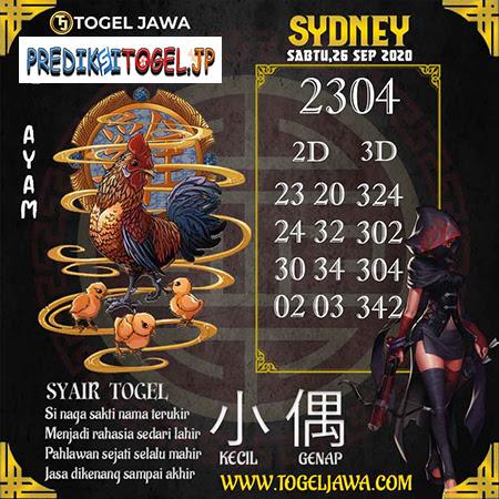 Prediksi Togel Jawa Sydney Sabtu 26 September 2020