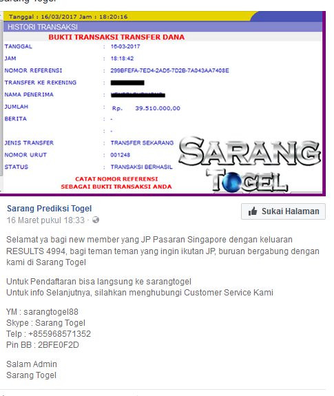 Bandar Togel Pasti Bayar - WWW.SARANGTOGEL.COM