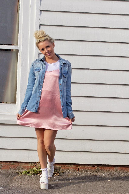 SATIN SLIP DRESS - Petite Side of Style