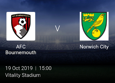LIVE MATCH: AFC Bournemouth Vs Norwich City Premier League 19/10/2019