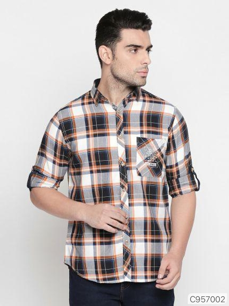 Cotton Checked Regular Fit Shirt
