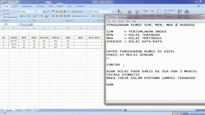 Rumus Excel Sum