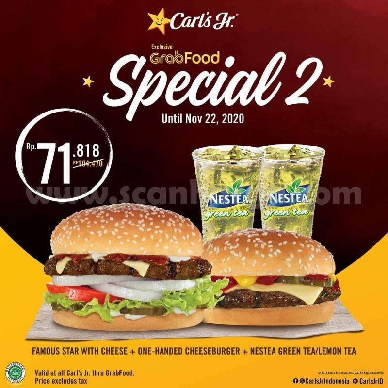 Carls Jr Promo Paket Spesial Pesan Antar via Grabfood 2