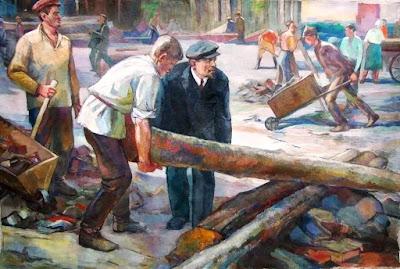 Ленин на субботнике 1 мая 1920 года.