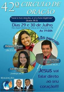 Igreja evangélica de Baraúna comemora 42º aniversário do Circulo de Oração