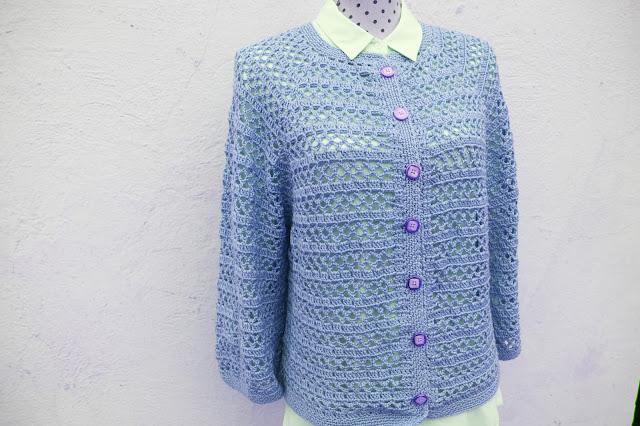 2 - Crochet Imagenes Chaqueta primavera a crochet y ganchillo por Majovel Crochet