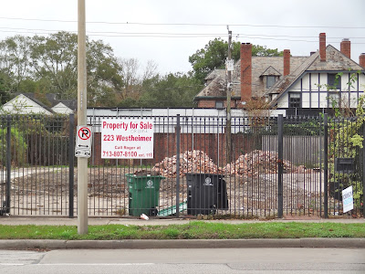 223 Westheimer Rd Houston TX - Lot for sale after demolition
