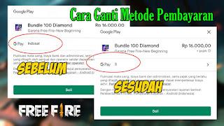 Cara Ganti Metode Pembayaran Top Up Diamond Free Fire Ke Provider Lain