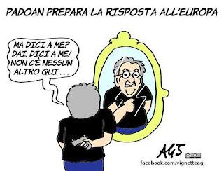 Padoan, lettera UE, manovra, unione europea, deficit, vignetta, satira
