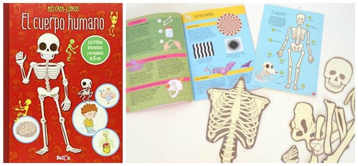 libros infantiles, materiales, actividades manualidades aprender cuerpo humano crea libro