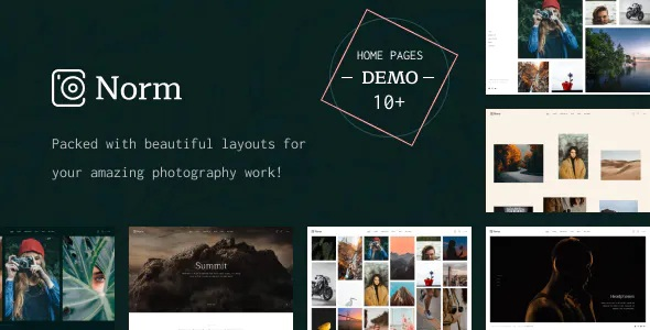 Photography Elementor WordPress Theme