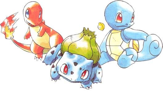 Pokémon Red, Blue e Green Iniciais de Kanto