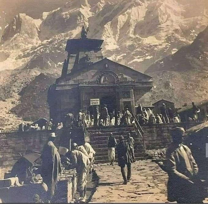 old photo shri Kedarnath Temple, Himalaya (India)