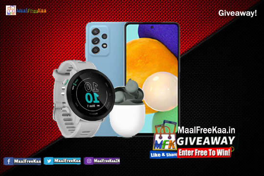 Play Giveaway and Win Smartphone Smartwatch & Buds