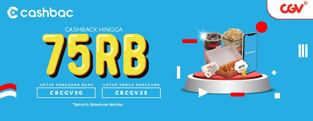 #CGV - #Promo Beli Tiket Dapat Cashback Hingga 75K Pakai Aplikasi CASHbac (s.d 31 Okt 2019)