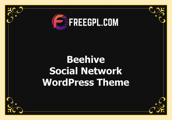 Beehive - Social Network WordPress Theme Free Download