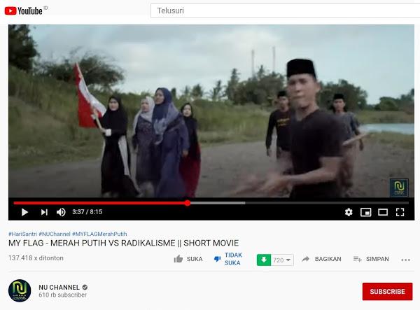 Rame-rame Warganet Kecam Film NU Channel 'Merah Putih vs Radikalisme' Yang Dianggap Adu Domba Sesama Muslim, Lebih Banyak Yang 'Dislike', Akhirnya Disembunyikan Jumlahnya