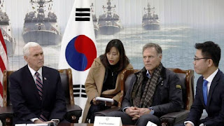 تخطى بينس العشاء الأولمبي مع الكوريين الشماليين