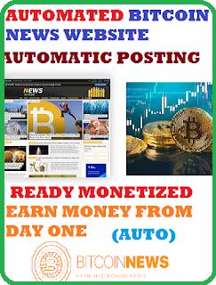 Automatic Bitcoin News Website (Ready Monetized)