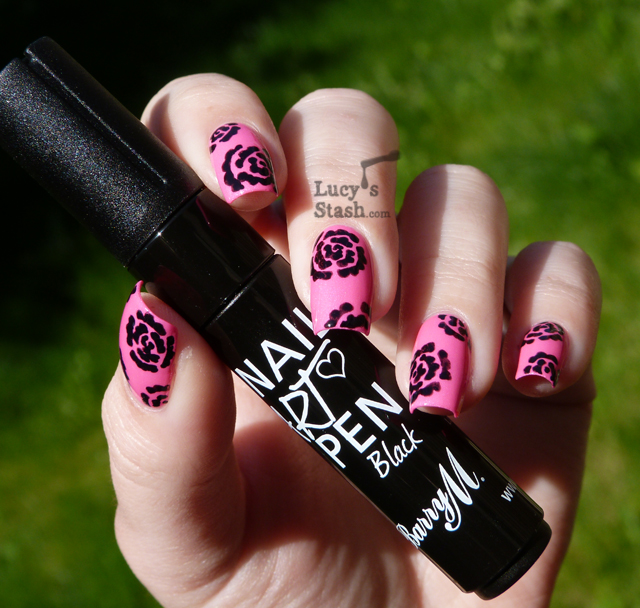 Lucy's Stash - Barry M Nail Art Pen Black over Nicole By OPI Still Into Pink
