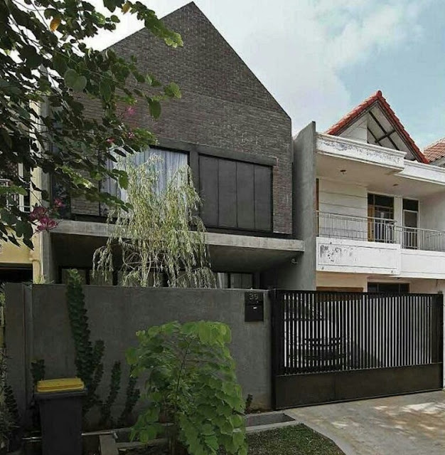 Minimalist 2 Floor Black Brick House