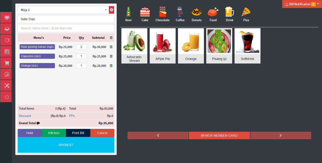 aplikasi restoran online