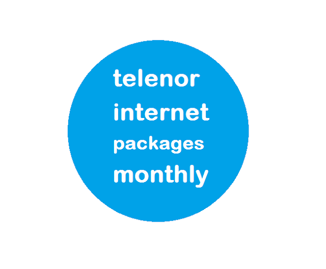 telenor internet packages monthly2019