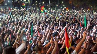 صلوات من أجل السلام والعدالة في بوليفيا بعد تنصيب رئيس جديد